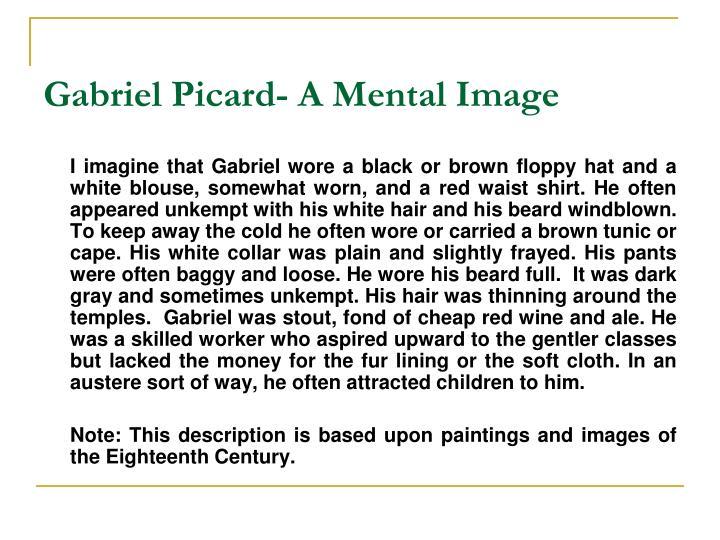 Gabriel Picard- A Mental Image