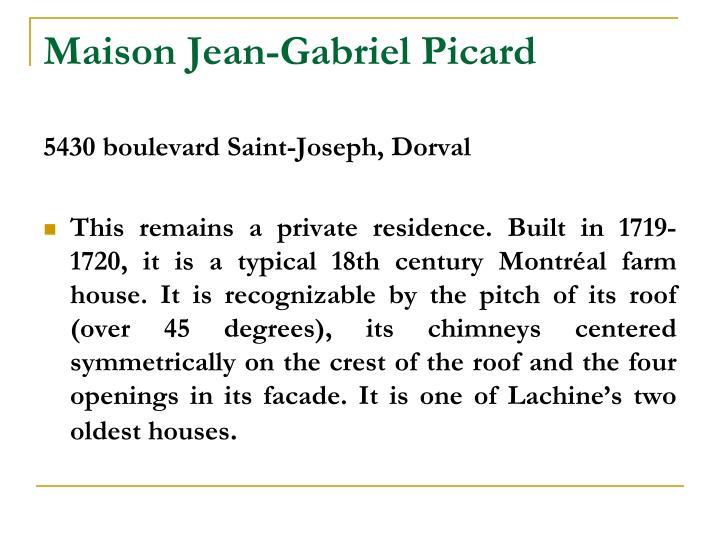 Maison Jean-Gabriel Picard