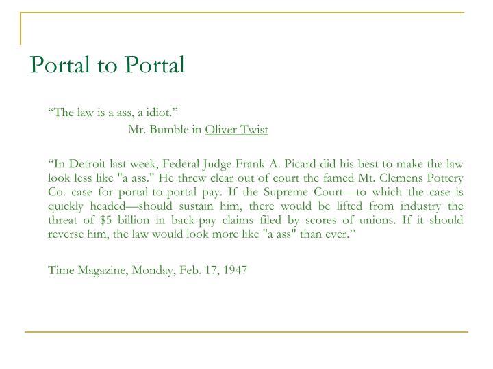 Portal to Portal