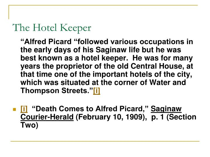 The Hotel Keeper