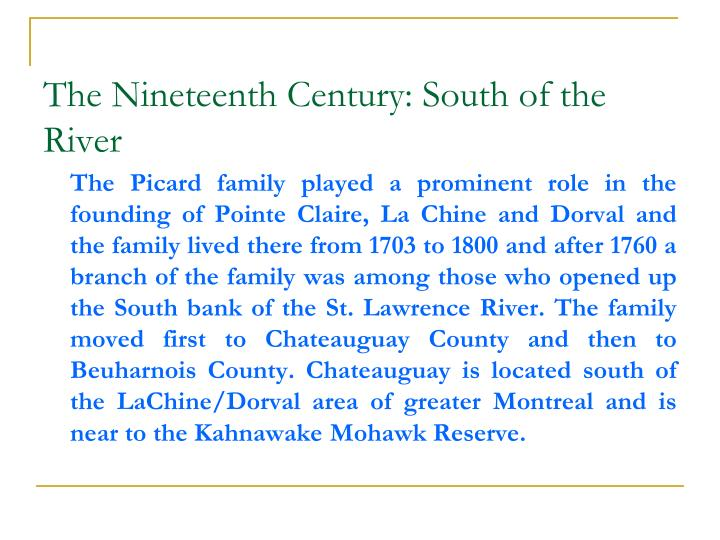 The Nineteenth Century: South of the River