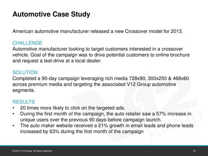 Automotive Case Study