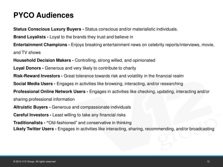 PYCO Audiences