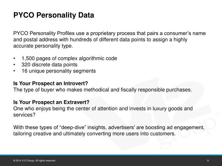 PYCO Personality Data