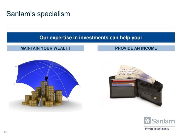 Sanlam's specialism