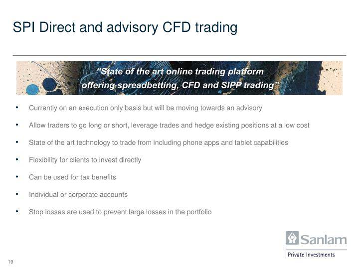 SPI Direct and advisory CFD trading