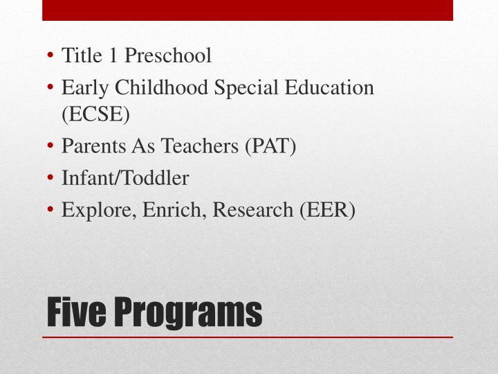 Title 1 Preschool