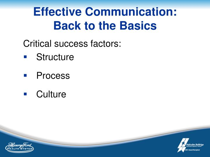 Effective Communication: