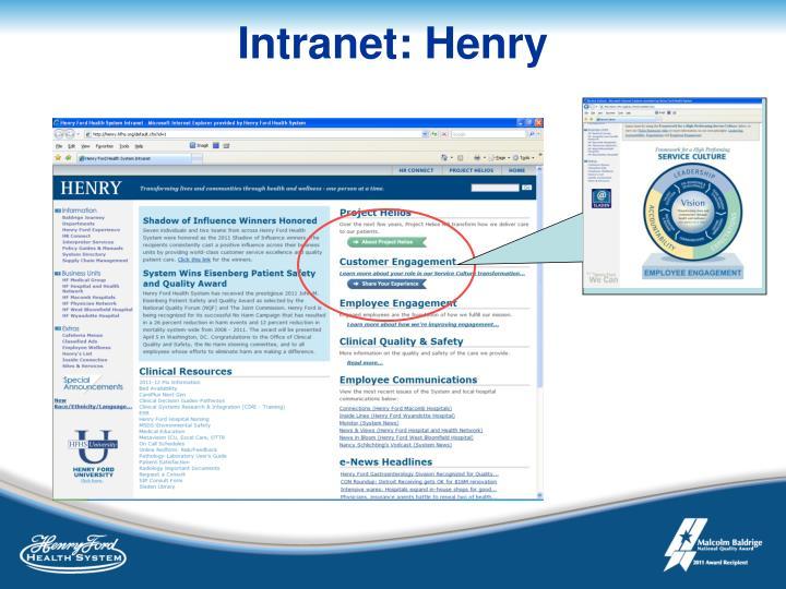Intranet: Henry