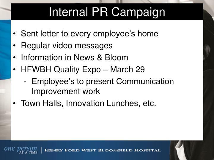 Internal PR Campaign