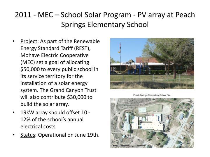 2011 - MEC – School Solar Program - PV array at Peach Springs Elementary School