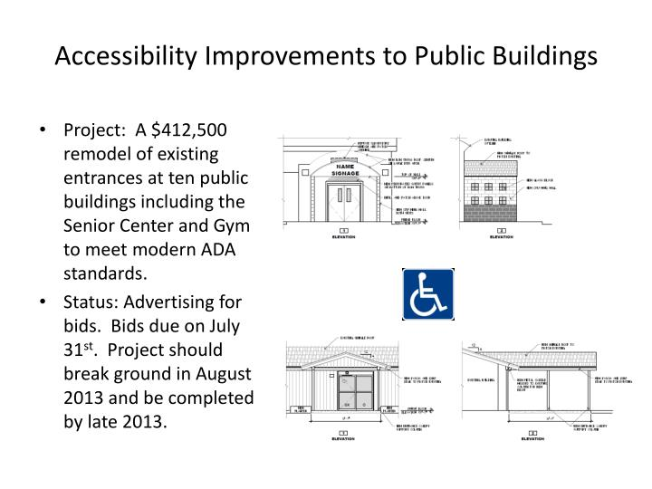 Accessibility Improvements to Public Buildings