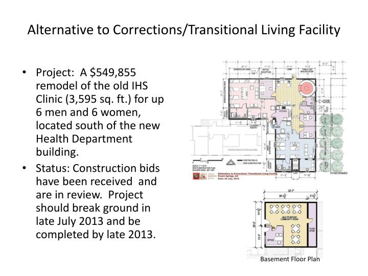 Alternative to Corrections/Transitional Living Facility
