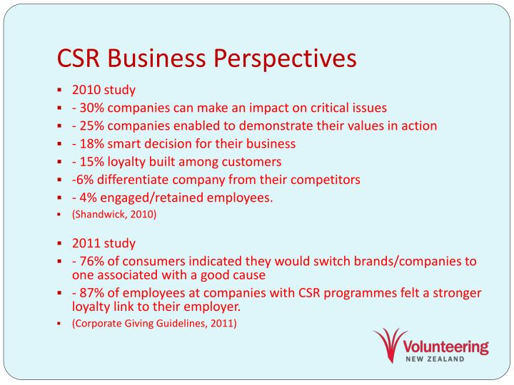 CSR Business Perspectives