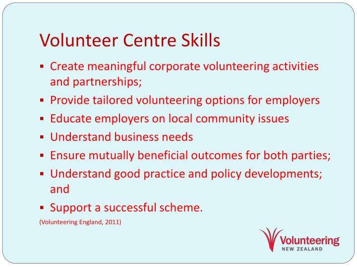 Volunteer Centre Skills