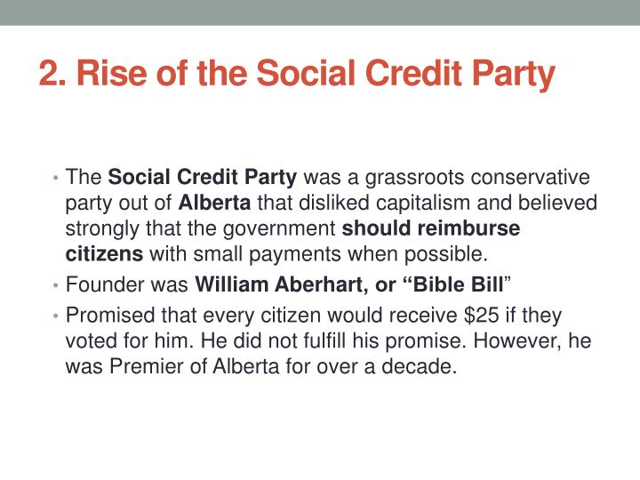 2. Rise of the Social Credit Party