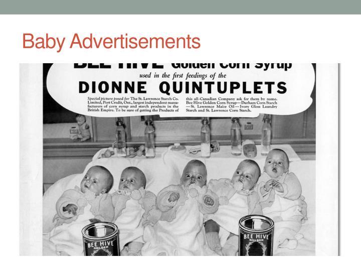 Baby Advertisements