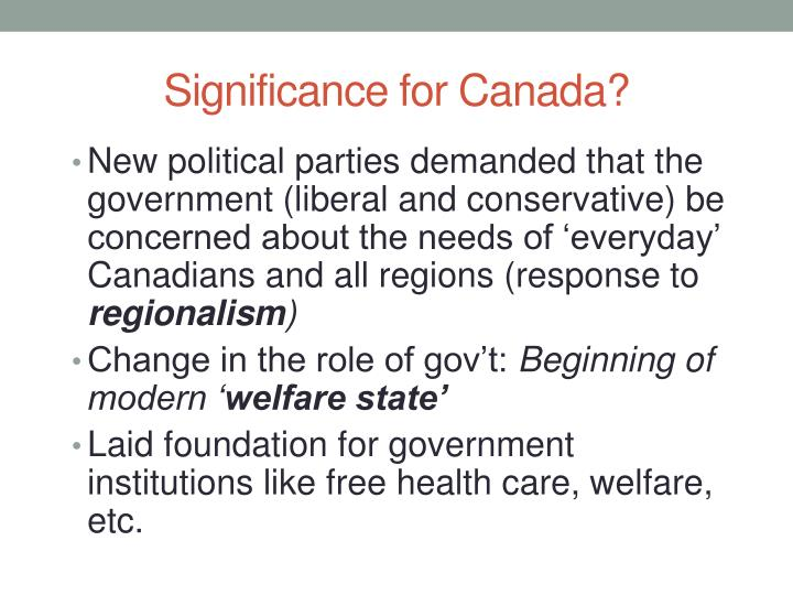 Significance for Canada?