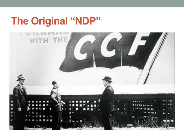 "The Original ""NDP"""