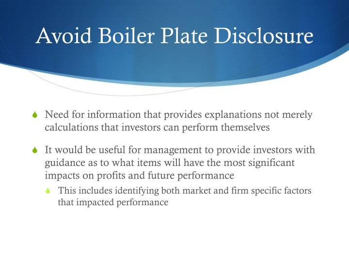Avoid Boiler Plate
