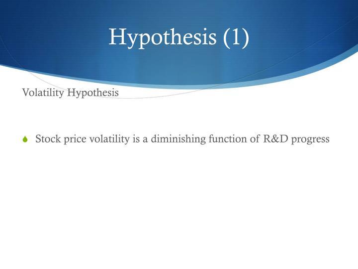 Hypothesis (1)