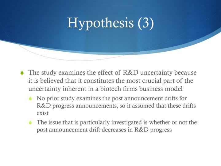 Hypothesis (3)