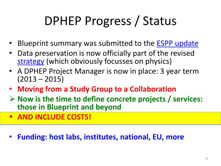 DPHEP Progress / Status