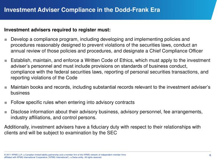 Investment advisers required to register must: