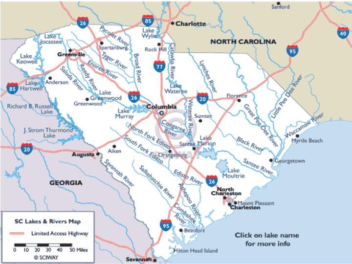 Major Rivers in SC