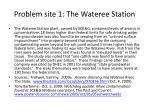 problem site 1 the wateree station