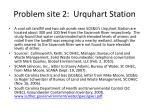 problem site 2 urquhart station