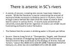 there is arsenic in sc s rivers