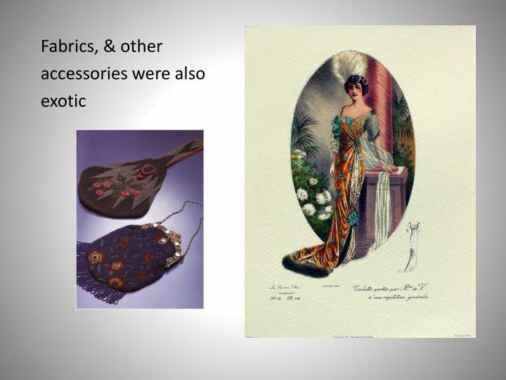 Fabrics, &