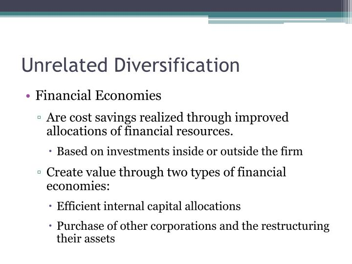 unilever unrelated diversification