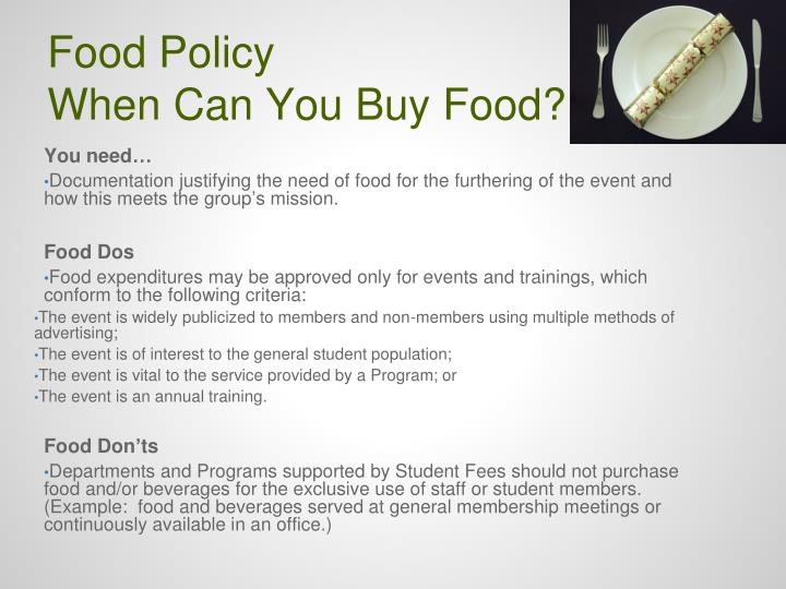 Food Policy