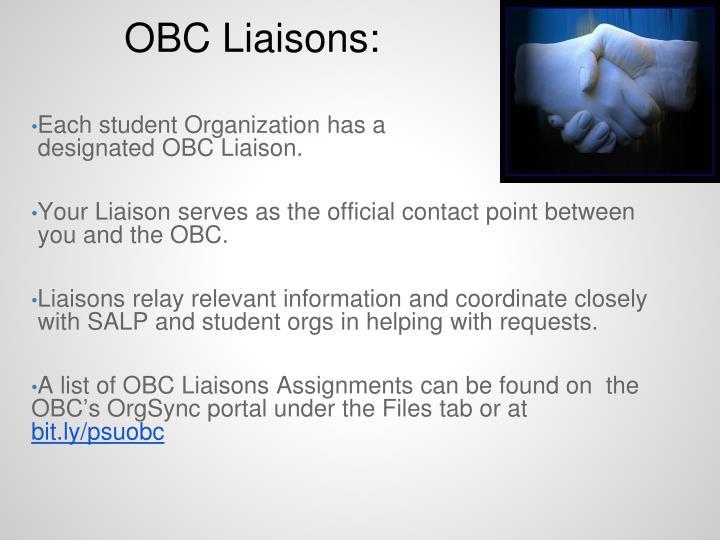 OBC Liaisons: