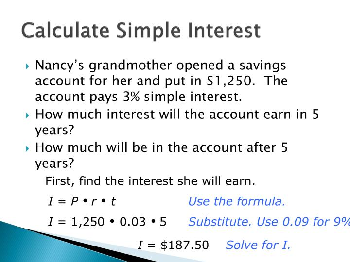 Calculate Simple Interest