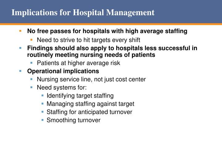 Implications for Hospital Management