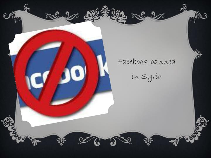 Facebook banned in Syria