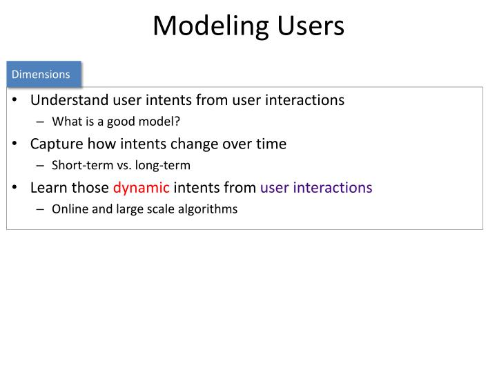 Modeling Users