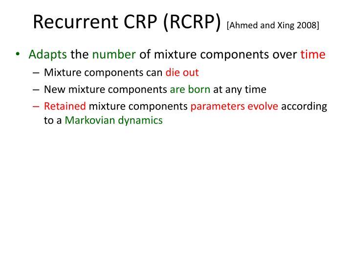 Recurrent CRP (RCRP)