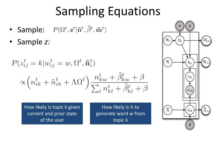 Sampling Equations