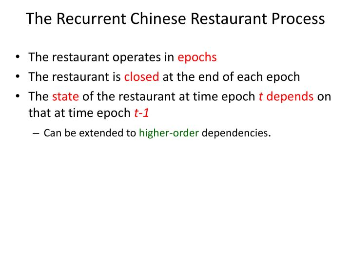 The Recurrent Chinese Restaurant Process