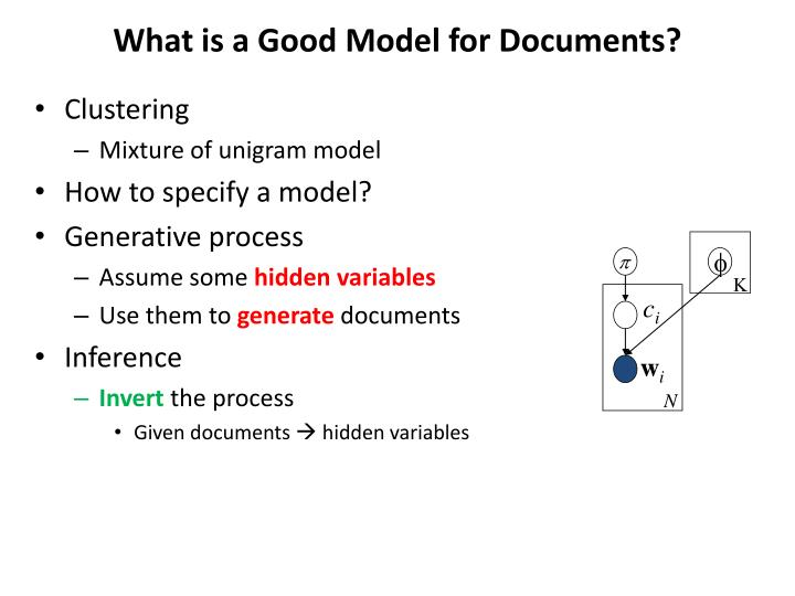 What is a Good Model for Documents?