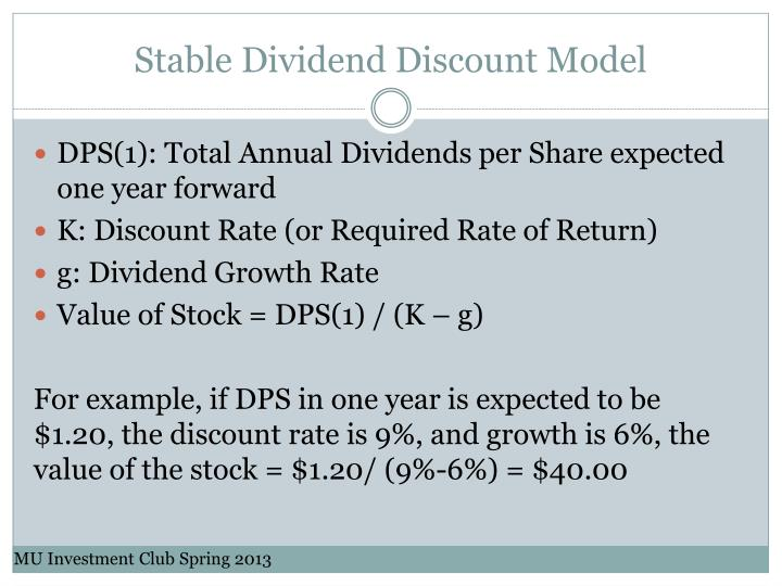 Stable Dividend Discount Model