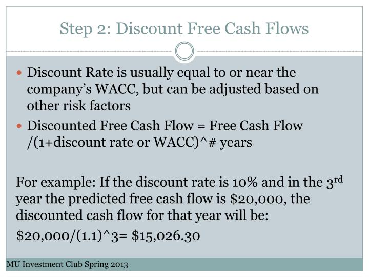 Step 2: Discount Free Cash Flows
