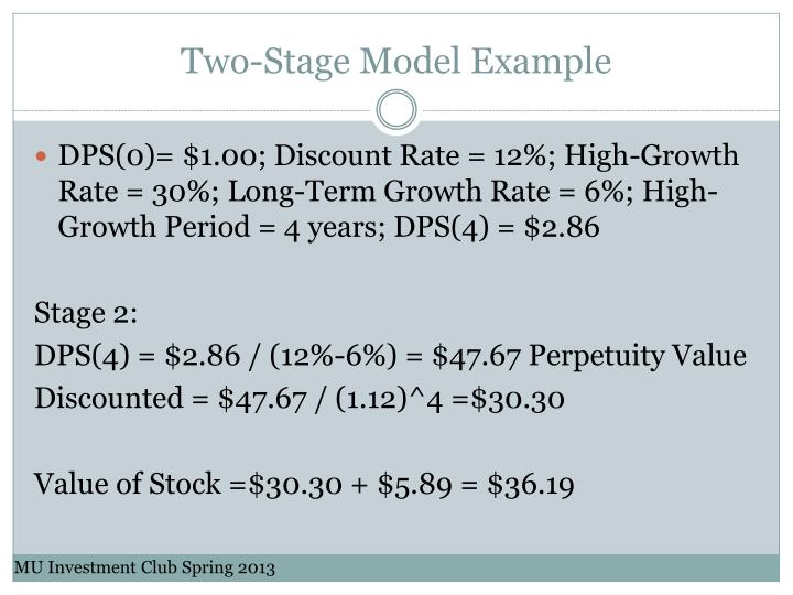 Two-Stage Model Example