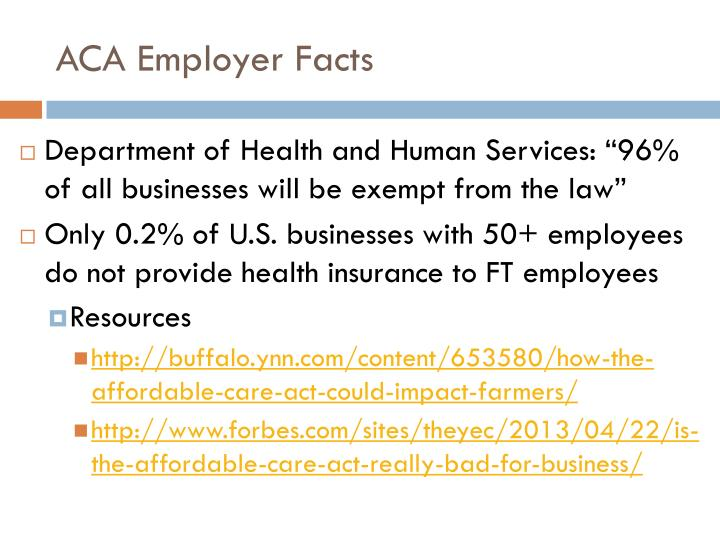 ACA Employer Facts