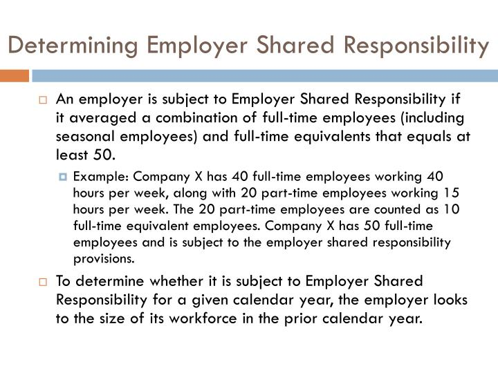 Determining Employer Shared Responsibility