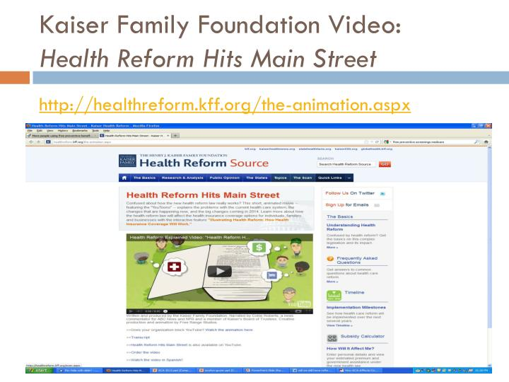 Kaiser Family Foundation Video: